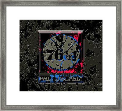 The Philadelphia 76ers 1b Framed Print