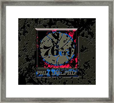 The Philadelphia 76ers 1b Framed Print by Brian Reaves