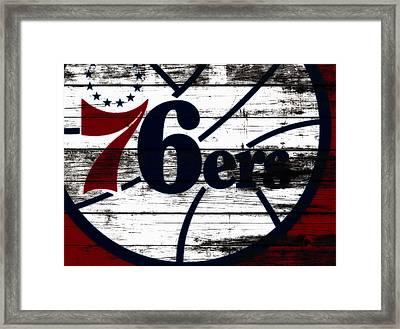 The Philadelphia 76ers 3b        Framed Print