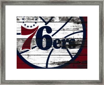 The Philadelphia 76ers 3c        Framed Print
