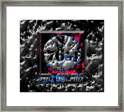 The Philadelphia 76ers Framed Print by Brian Reaves