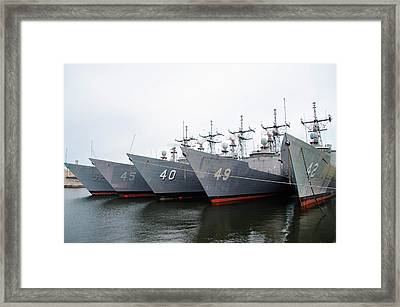 Framed Print featuring the photograph The Philadelphia Navy Yard by Bill Cannon