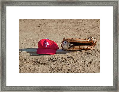 The Philadelphia Phillies Baseball Framed Print by Bill Cannon