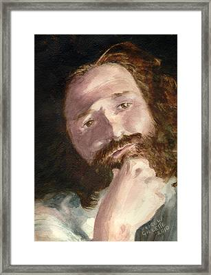 Framed Print featuring the painting The Philosopher by Andrew Gillette