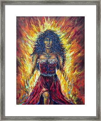 The Phoenix Framed Print by Gail Butler