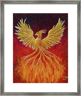 The Phoenix Framed Print by Teresa Wing