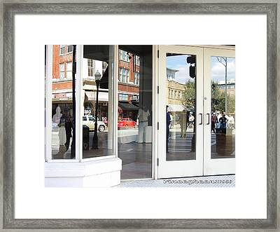 The Photographer And His Doppelganger Framed Print by Vince Green