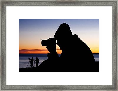 The Photographer Framed Print by Greg Fortier
