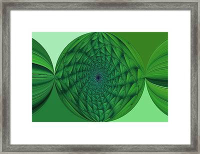 The Physics Of Hollow Worlds Framed Print by Doug Morgan