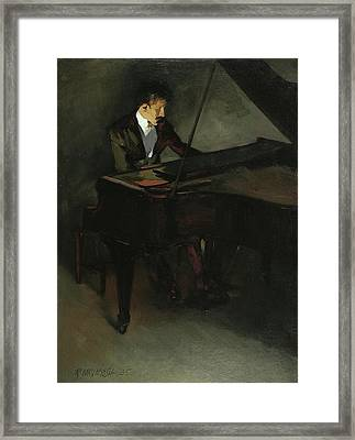 The Pianist Framed Print by Robert McIntosh
