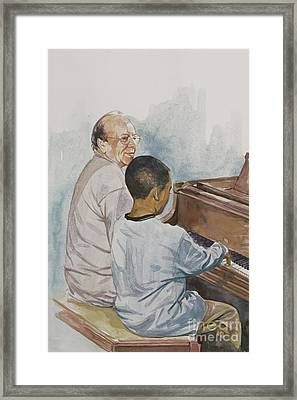 The Piano Lesson Framed Print