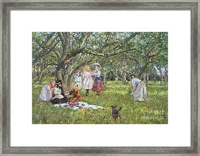 The Picnic Framed Print