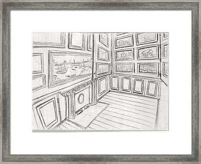 The Picture Gallery At The Soane Museum 2 Framed Print by Arter