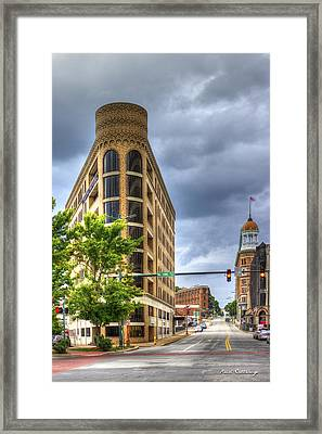 The Pie Stops Here One Central Plaza Chattanooga Tn Art Framed Print