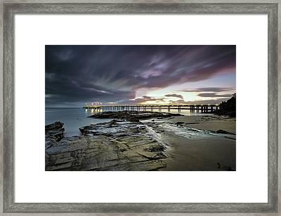 The Pier @ Lorne Framed Print by Mark Lucey