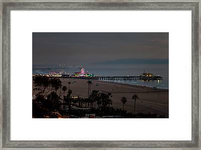 The Pier After Dark Framed Print