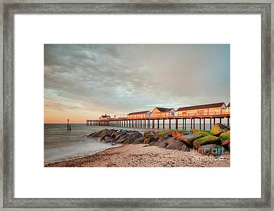 The Pier At Sunrise 2 Framed Print by Colin and Linda McKie