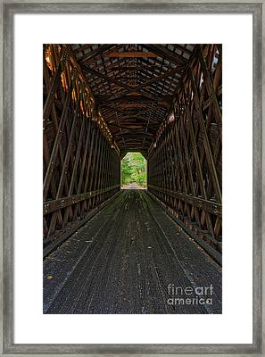 Framed Print featuring the photograph The Pier Bridge by Edward Fielding