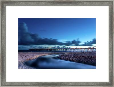The Pier In Panama Framed Print