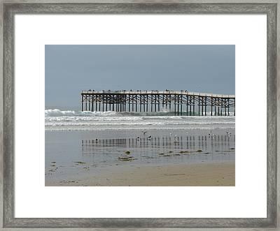 The Pier Framed Print by John Wilson