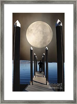 The Pier Framed Print by Lozja Mattas