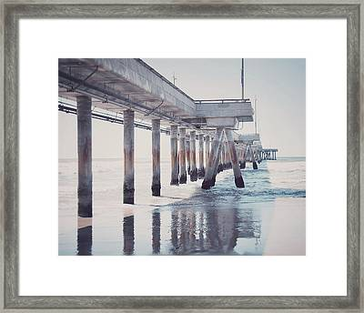 The Pier Framed Print by Nastasia Cook