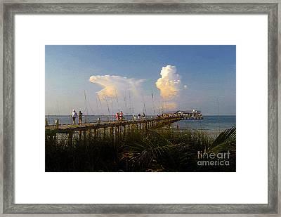 The Pier On Anna Maria Island Framed Print