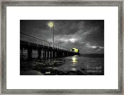 The Pier On The Bay Framed Print