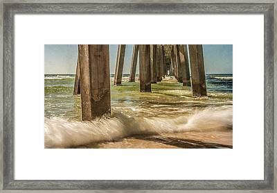 The Pier Framed Print by Phillip Burrow