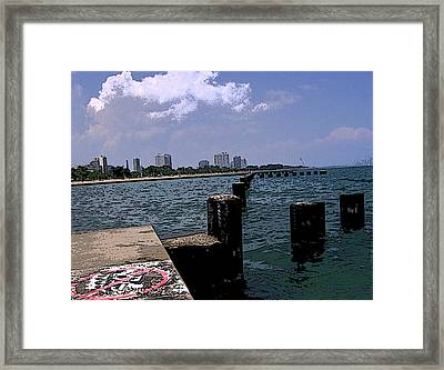 Framed Print featuring the photograph The Pier by Skyler Tipton