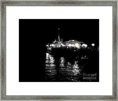 Framed Print featuring the photograph The Pier by Vanessa Palomino