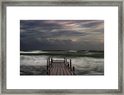 The Pier...ayia Napa Framed Print by Stelios Kleanthous