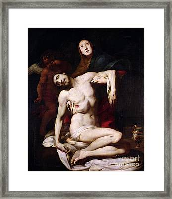 The Pieta Framed Print by Daniele Crespi