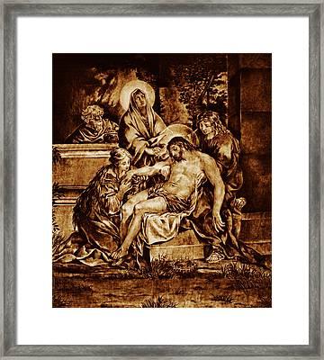 The Pieta Framed Print by Dino Muradian