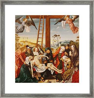 The Pieta Framed Print by Rogier van der Weyden