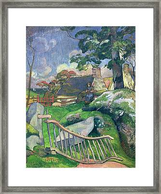 The Pig Keeper Framed Print by Paul Gauguin