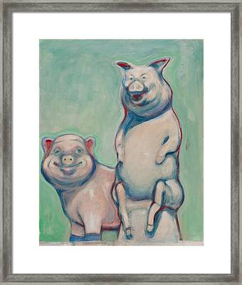 The Pigs Framed Print