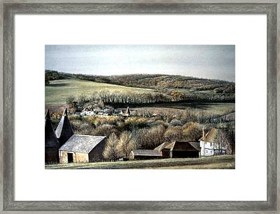 Framed Print featuring the painting The Pilgrims Way by Rosemary Colyer