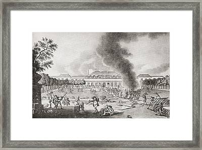 The Pillage Of The Luxury Wallpaper Framed Print by Vintage Design Pics