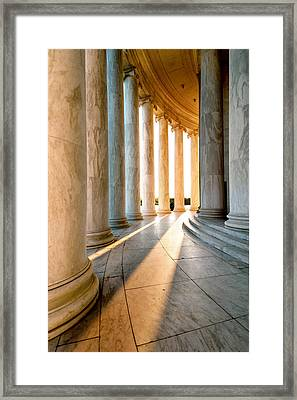 The Pillars Of D.c. Framed Print by Greg Fortier