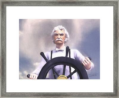 The Pilot Framed Print by Dave Luebbert