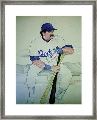 The Pinch Hitter Framed Print