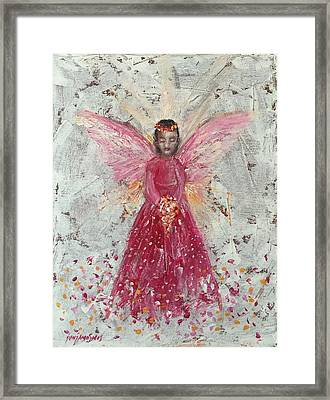 The Pink Angel 2 Framed Print by Jun Jamosmos