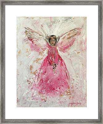 The Pink Angel  Framed Print by Jun Jamosmos
