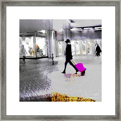 Framed Print featuring the photograph The Pink Bag by LemonArt Photography