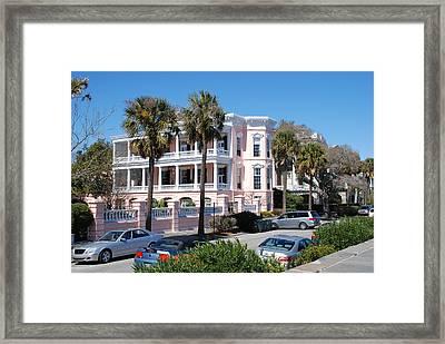 The Pink Battery House Framed Print by Susanne Van Hulst