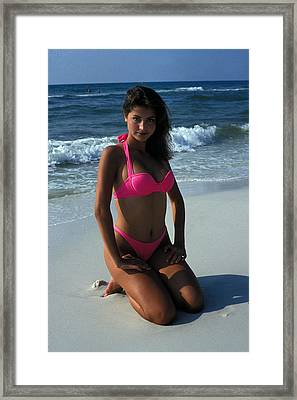 The Pink Bikini Framed Print