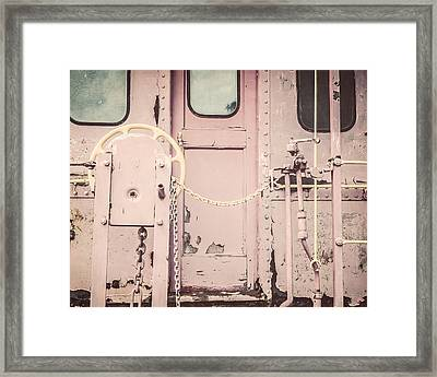 The Pink Caboose Framed Print by Lisa Russo