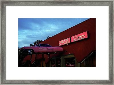 The Pink Cadillac Diner Framed Print