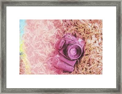The Pink Camera Framed Print